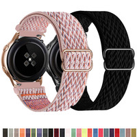 Cinturino in Nylon 20mm 22mm per Samsung Watch /Galaxy Active 2/Gear /Amazfit/Huawei Sport treccia cinturino regolabile All-match