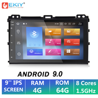 EKIY 9 IPS 2 Din Android 9.0 Car Multimedia Player Autoradio DVD For Toyota Prado 120 Land Cruiser GPS Navigation Tape Recorder