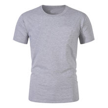 2021 New Black Multi-Color Solid Color Trend Men's T-Shirts Short-Sleeved Cool And Breathable Oversized T-Shirts Round Neck Tops