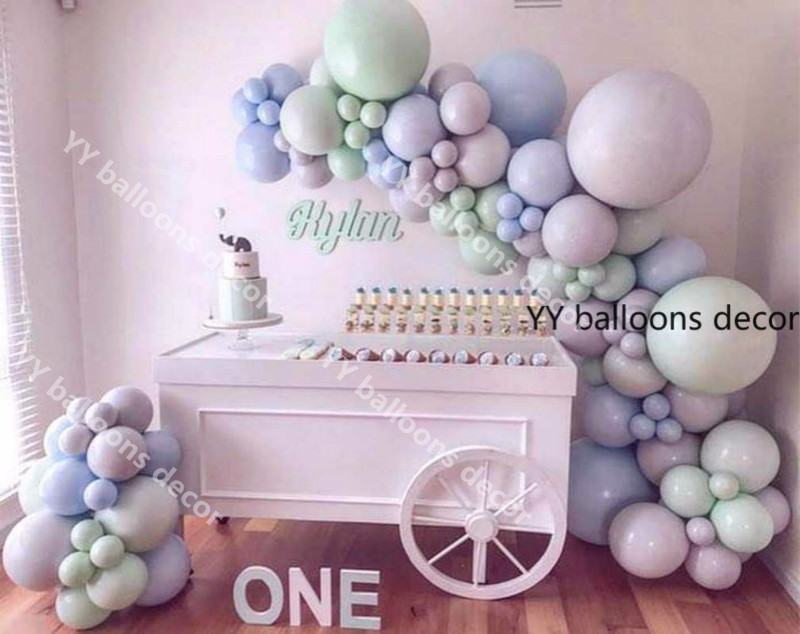 110pcs Maca Blue Gray Mint Balloons Garland Arch Kit Pastel 5/<font><b>10</b></font>/12/18inch <font><b>Birthday</b></font> Wedding Baby Shower Anniversary Party <font><b>Decor</b></font> image