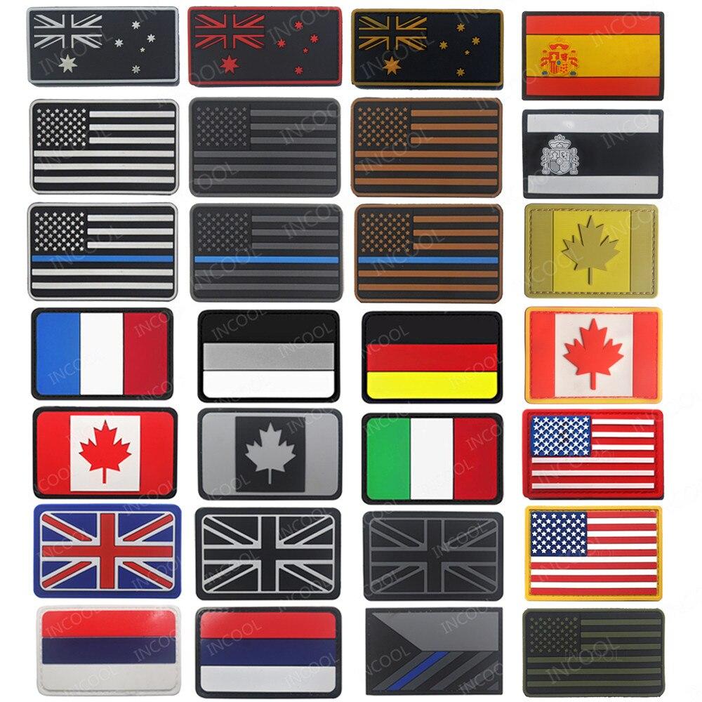 UNITED KINGDOM GLOW PUNISHER UK BRITISH FLAG GITD BLACK OPS SWAT HOOK PATCH