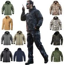 Winter Warm Waterproof Jacket Men Rain Fleece Softshell Set Camouflage Hunting Clothes Trekking Pants Hiking Fishing Climb Coat