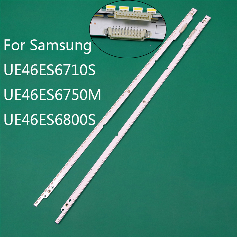 New LED TV Illumination Part Replacement For Samsung UE46ES6710S UE46ES6750M UE46ES6800S LED Bars Backlight Strip 2 Line Rulers