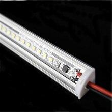 5 adet çok 200 240Vac 50cm 20 inç led kabine bar ışığı, 6W 2835 köşe profili, kabine altında mutfak dolap V sert şerit