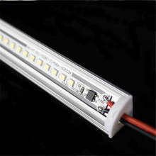 5pcs un sacco di 200 240Vac 50 centimetri 20 pollici gabinetto di led light bar, 6W 2835 angolo di profilo, armadio da cucina sotto armadio V striscia rigida