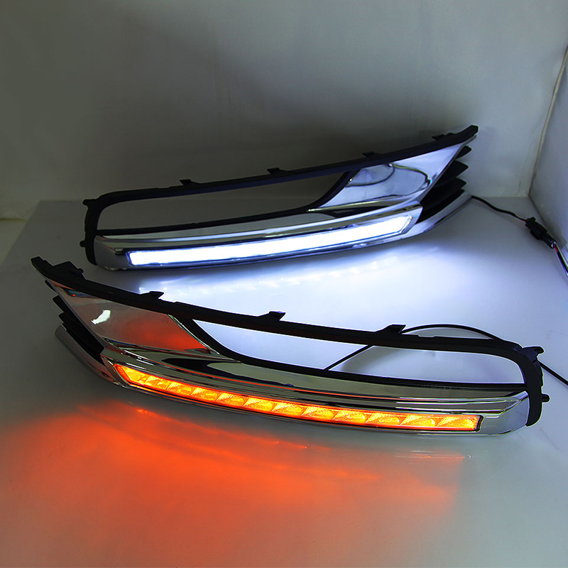EOsuns светодиодный дневный ходовой светильник DRL противотуманная фара для Volkswagen VW Passat B7, беспроводной переключатель управления, тусклый конт