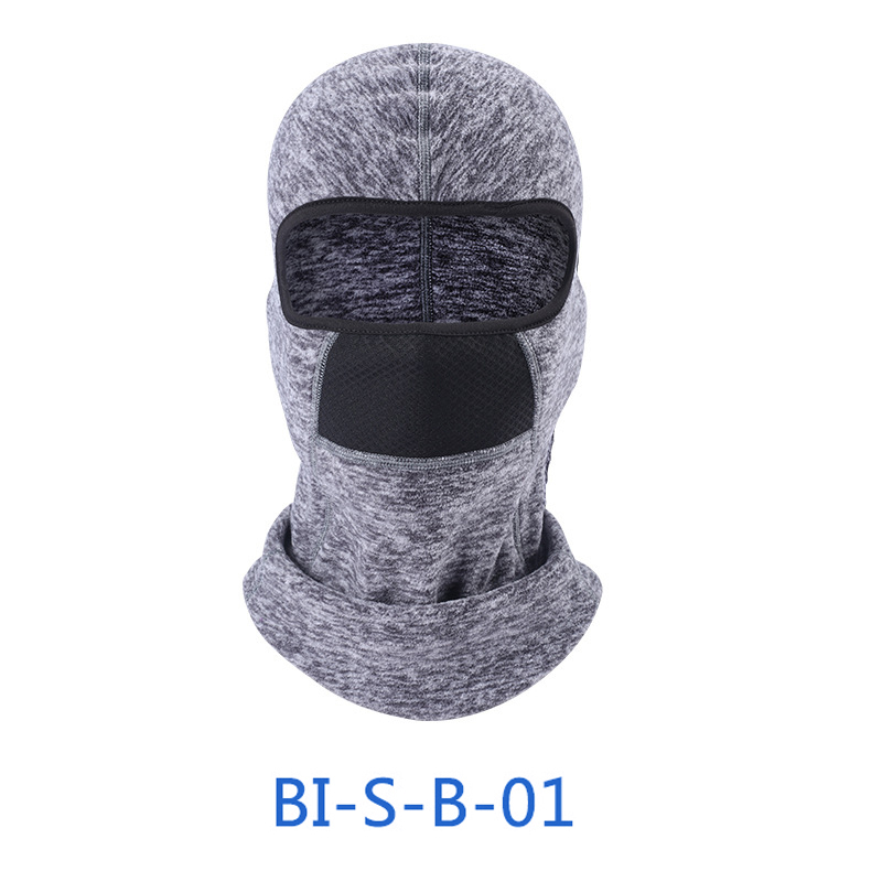 man women durable and practical Winter Outdoor Riding Warm Face Mask Headgear Windproof Fleece Hood Hat breathable
