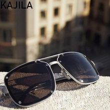 Квадратные Солнцезащитные очки в стиле ретро для мужчин 2020, модные брендовые дизайнерские солнцезащитные очки с заклепками для мужчин, вин...