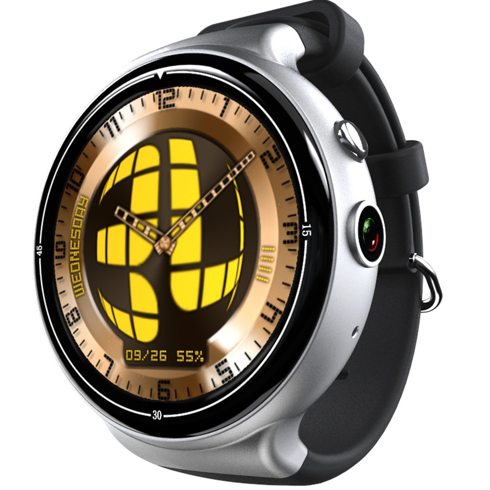I4 Android 5.1 OS Heart Rate Monitor Smart Watch 3G Mobile Phone 2G + 16G + 2.0MP WIFI GPS Smart Watch IP54 Life Waterproof