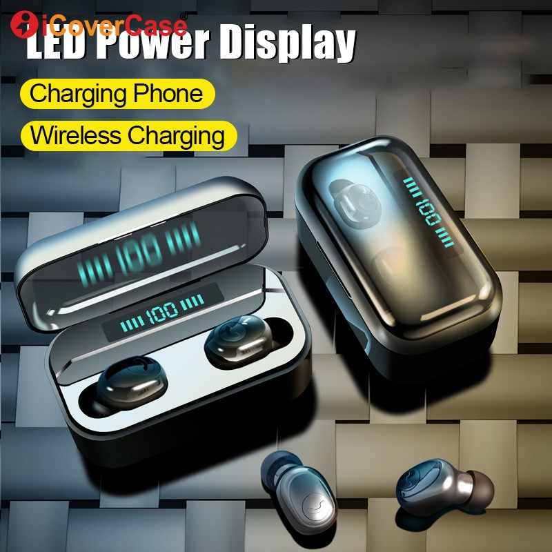 Bluetooth Earphones For Huawei Honor 20 9X Pro 8X Max V20 V10 10 Lite 9 8 8A 8C Wireless Headphone Earbud With Charging Box +Mic