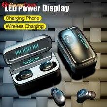 Bluetooth サムスン銀河 S10 Lite 5 グラム S10e S9 S8 プラス注 10 9 8 ワイヤレスヘッドフォンインナーイヤー型充電とボックス + マイク