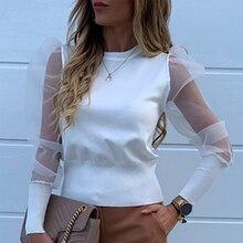 Fashion Pearl Beaded Design Women's Blouse Shirt