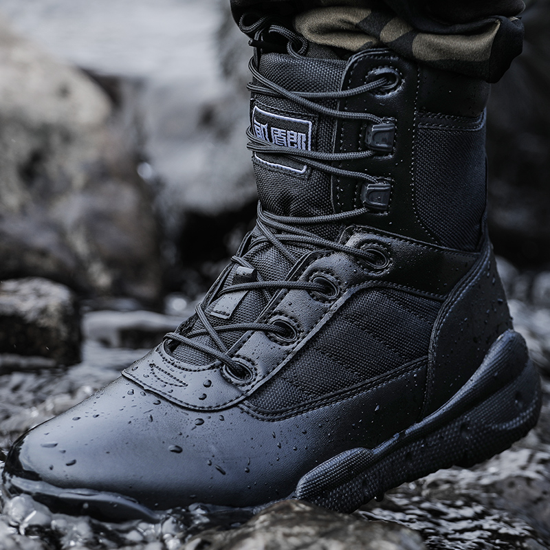 New Men Shoes Tactical Light Military Boots Combat Shoes Special Force Botas Militares Breathable Working Shoes Mens Boots