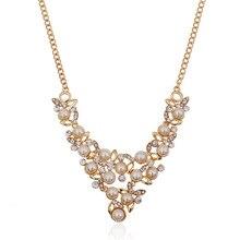 Модные хрустальные преувеличенные жемчужные аксессуары Европа и Америка ожерелье с драгоценным камнем цепочка на свитер аксессуары за рубежом T