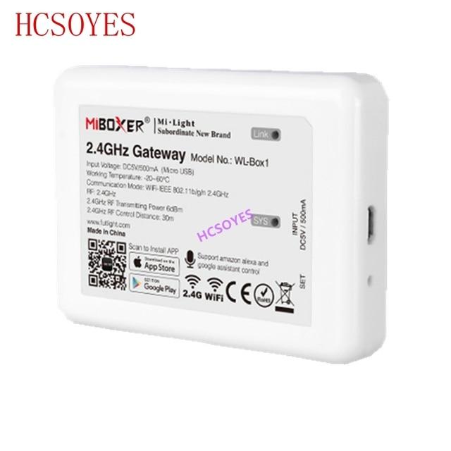 milight (iBox2 Upgraded version )WL Box1 2.4GHz WiFi Smart Light /WiFi iBox Controller DC5V RF Remote wifi RGB light Wireless