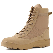 Taktische Militärische Stiefel Männer Stiefel Spezielle Kraft Wüste Kampf Armee Stiefel Outdoor Wanderschuhe Stiefel Ankle Schuhe Männer Arbeit Safty Schuhe