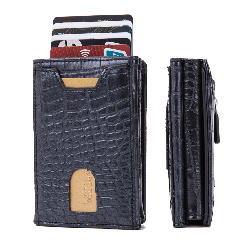 Anti-theft Slim Pocket Wallet ID Credit Card Holder Case Money Clip Purse