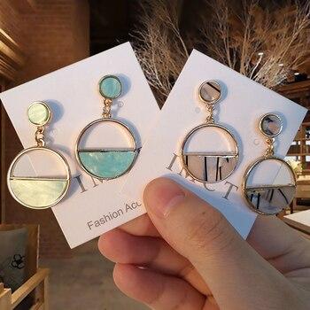 2019 New Women s Earrings Color Metal Simple Charm Hollow Geometric Pendant Earrings Suitable For Winter.jpg 350x350 - Charm Hollow Geometric Pendant Earrings