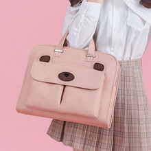 High Capacity Briefcases Women's Shoulder Laptop Workbag Travel File Notebook Storage Bag Documents Organize Handbag Accessories