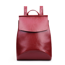 Fashion Red Wine Women Backpacks Quality Pu Leather School Backbag Teenage Girl Preppy Style Travel Shoulder Bag Daypack Mochila