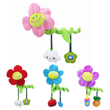 Sunflower Baby Bed Hanging Toy Hanging Spiral Rattle Cart Pendant Interactive Early Education Tool Newborn Stroller Baby Rattle