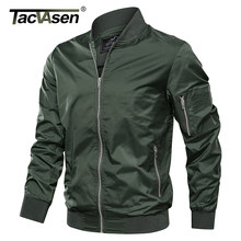 TACVASEN Jackets Men Autumn Solid Casual Jacket Coats Military Style Army Bomber Pilot Jackets Outwear Fashion Slim Fit Coats(China)