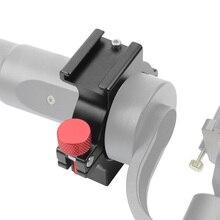 Nuovo 4 Anello Adattatore Hot Shoe Anello Microfono di Montaggio per Zhiyun Liscia 4 Maniglia del Giunto Cardanico Stabilizzatore Rode Video A LED accessorio luce