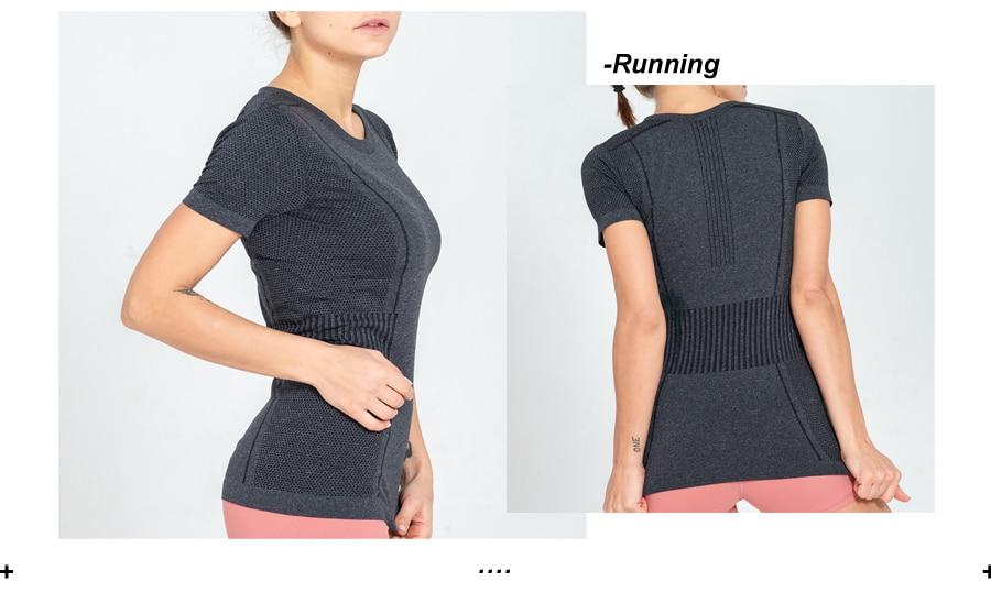 das mulheres camisa de fitness esportes de