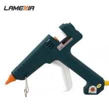 LAMEZIA 250W 100-240V Professional Hot Glue Gun Crafts Temperature Adjustable Repair Kit Tools