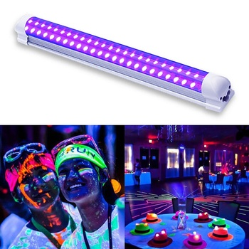 10W Disco light UV LED Blacklight Integrated Tube UV Curing Lamp LED Violet Light Tube for Blacklight Party Body Paint