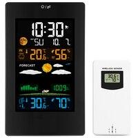 Wall Clock Color Weather Station LCD Digital Alarm Temperature Humidity Comfort Display Table Sensor Modern Design