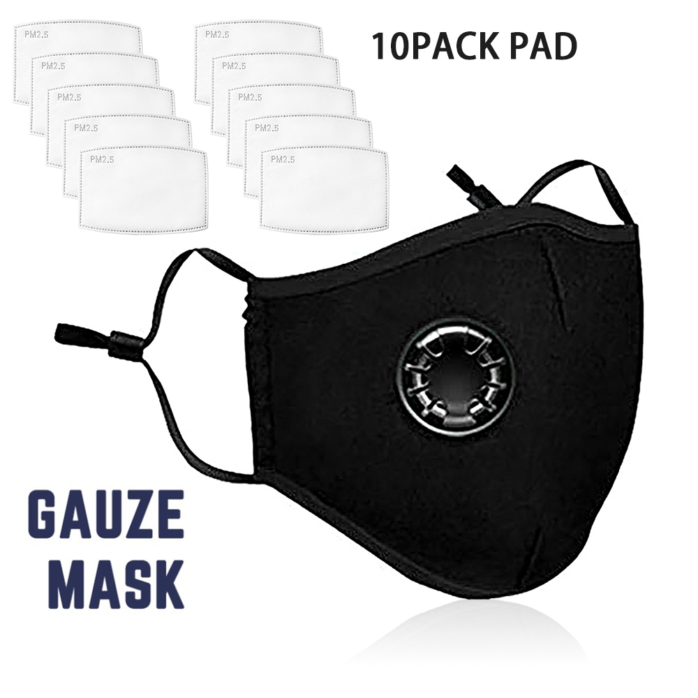 Anti Dust PM2.5 Pollution Filters Mask Anti-fog Mascherine Masque Dustproof Respirator Mask Activated Carbon Valve Mouth Masks