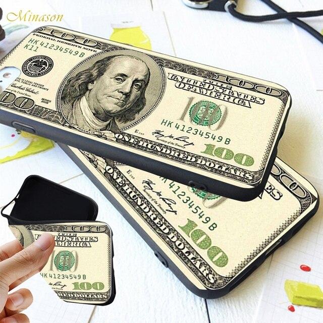 Gros argent 100 Dollar livre Rouble étui de téléphone pour xiaomi Redmi note 4 5 plus 4x6 couverture Fundas Capinha Coque