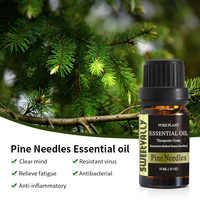 10ml de agujas naturales de pino puro aceite esencial de relajación aceite de fragancia alivia el estrés difusores de aromaterapia aceites esenciales