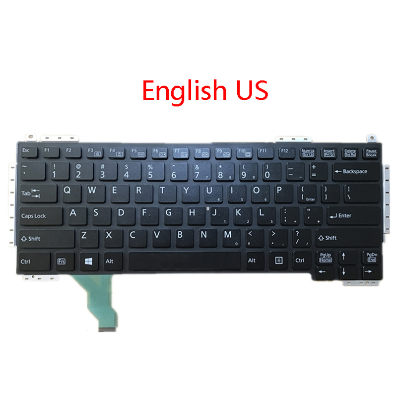 Laptop US TI JP Keyboard For Fujitsu For Lifebook S904 S935 T904 T935 T936 U904 English Thailand Japanese Black/Silver