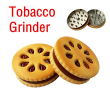 Tobacco Grinder Cigarette Creative Cutting Herb Spice Herbal Alloy Smoke Metal Crusher NEW K906
