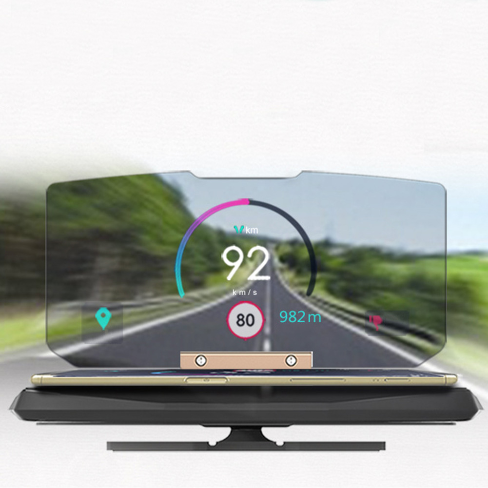 Speed Warning Head Up Display Bracket HUD Holder Support Folding Glass Phone Navigation Projector Universal Car Stand Adjustable