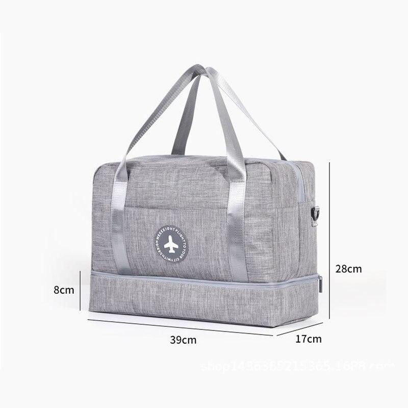 Hylhexyr водонепроницаемая обувь сумки большой емкости Оксфорд молния путешествия вещевой мешок одежды с разделителем для сухого и влажного сумки пакет для пляжа