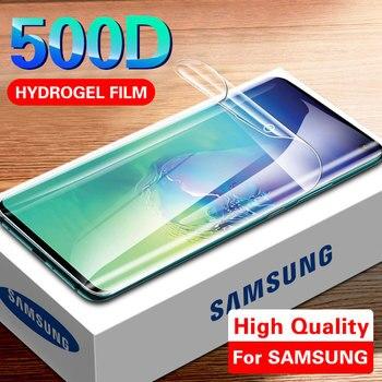 Перейти на Алиэкспресс и купить 500D Гидрогелевая Защитная пленка для samsung S10 S9 S8 Plus Note 8 9 S10e, Защитная пленка для A50 A10 A30 A70, не стекло