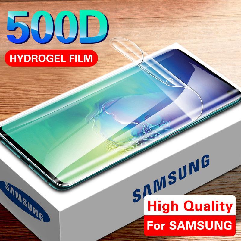 Film Hydrogel protecteur décran 500D pour Samsung S10 S9 S8 Plus Note 8 9 S10e Film protecteur pour A50 A10 A30 A70 Film non verre