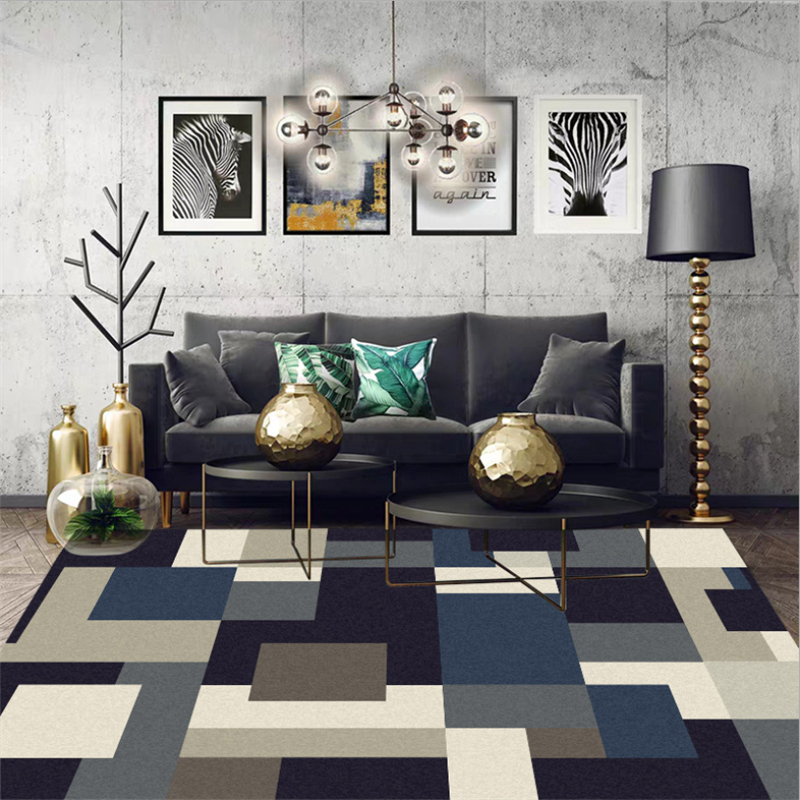 Living Room Black And White Geometric