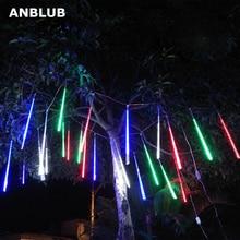 ANBLUB 20 см 30 см 50 см Открытый Метеоритный Дождь 8 трубок светодиодный гирлянды водонепроницаемый для Рождество Свадебная вечеринка украшения