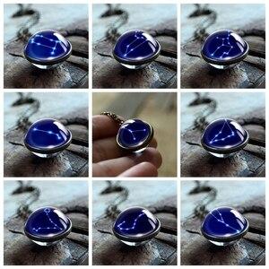 12 созвездий ожерелье двухстороннее стекло кабошон подвеска цепочка Leo Libra Знак зодиака женское длинное ожерелье подарок на день рождения