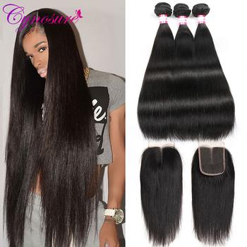 Cynosure peruwiański proste włosy ludzkie zestawy z zamknięciem 3 sztuk pasma włosów typu remy z 4 #215 4 zamknięcie podwójne pasma tanie i dobre opinie = 10 CN (pochodzenie) Remy włosy Ciemniejszy kolor tylko Wyprostował 3 sztuk wątek i 1 pc zamknięcia Peruwiański włosów