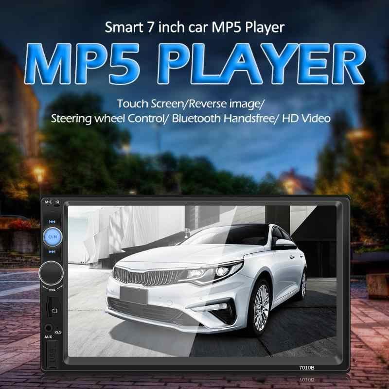 2 DIN 7 Inci Mobil MP5 Multibahasa Stereo Bluetooth TF AUX RCA Belakang Usb Ponsel Interkoneksi Media Penerima