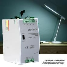Din Rail single output switching power supply DRP-120-24 120W adjustable AC/DC Power Source Pulse Width Modulation 100~240V 24V [sumger2] mean well original drh 120 24 24v 5a meanwell drh 120 24v 120w single output industrial din rail power supply