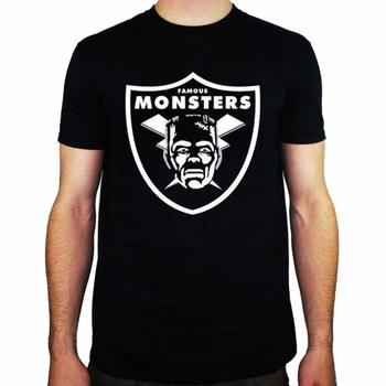 Camiseta para hombre con licencia de Horror con Logo de monstruos famosos de los Raiders