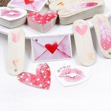 Tag-Card Gift Thank-You Decoration Kraft-Paper Wedding Valentine's-Day-Printing Retro