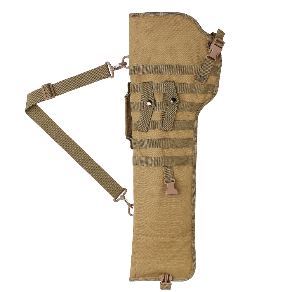 Tactical Pistol Scabbard Holster Molle Rifle Sling Case Bag for Shotgun Outdoor Hunting