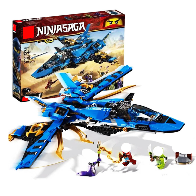 <font><b>70668</b></font> Ninja Jay's Storm Fighter Compatible Legoingly <font><b>Ninjagoed</b></font> Bricks Building Blcoks Toys Figures for Children Gift image
